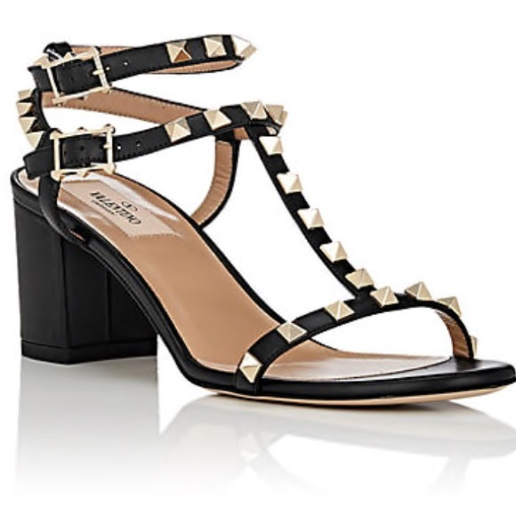 cheap collections Valentino Garavani Rockstud Leather Double-Strap Sandals the cheapest cheap online official online iNZmna